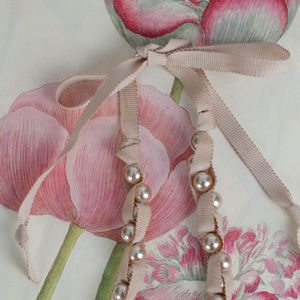 Stella & Dot Jewelry - Pearl & Ribbon Tie Necklace